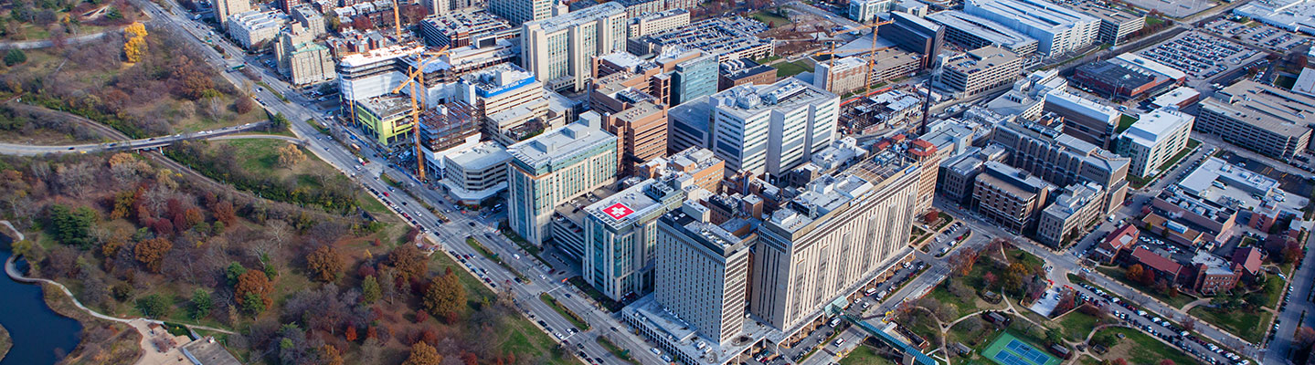 Aerial view of Washington University Medical Campus